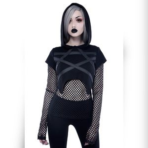 Killstar Witchnet Hooded Top